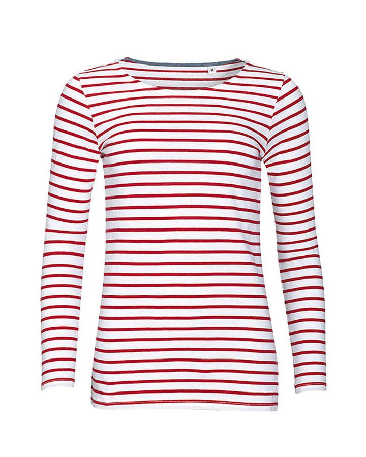 T-shirt Marinière manches longues Femme  ae0cba53664