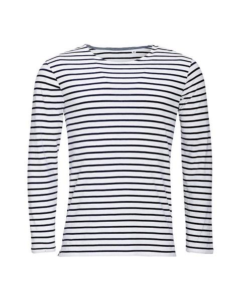 T-shirt Marinière manches longues Homme
